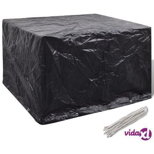pokrywa na meble ogrodowe z 8 oczkami do przewlekania 135 x 135 x 90cm marki Vidaxl
