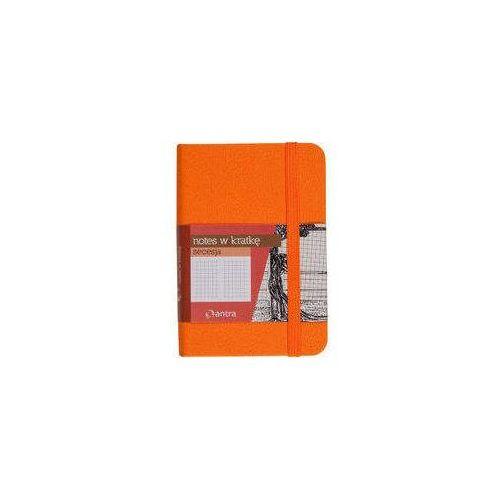 Notes A7 z gumką Secesja kratka pomarańczowy (5904210019010)