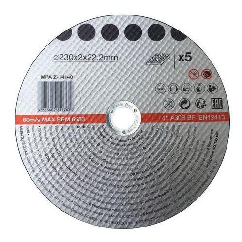 Opp Zestaw tarcz do metalu 230 x 2 mm 5 szt.