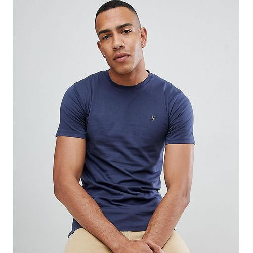 Farah Farris slim fit t-shirt with stretch in navy Exclusive at ASOS - Navy, w 5 rozmiarach