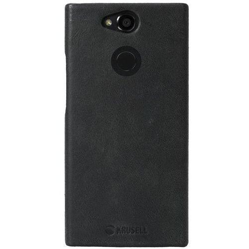 Krusell Sunne Cover - Skórzane etui Sony Xperia XA2 (Black) (7394090612278)