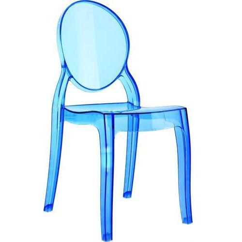 Krzesło mia niebieki transp - niebieski ||transparentny marki D2.