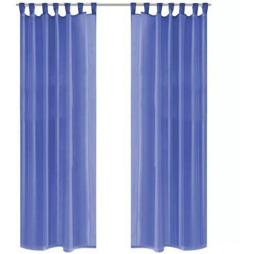 vidaXL Zasłony z woalu, 2 sztuki, 140 x 245 cm, niebieski