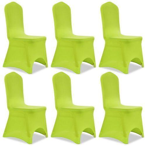 Vidaxl Elastyczne pokrowce na krzesło zielone 6 szt.