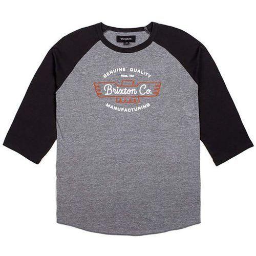 Koszulka - concord 3/4 slv tee heather grey/washed black (htgwb) rozmiar: l, Brixton