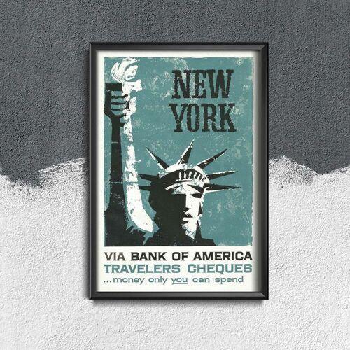 Vintageposteria.pl Plakat w stylu vintage plakat w stylu vintage new york bank reklama print s