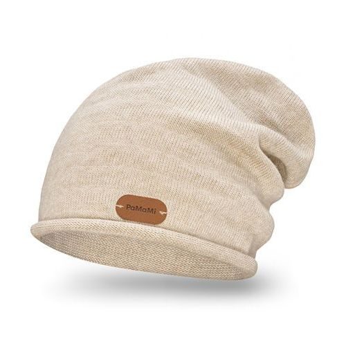 Czapka damska - beżowy - beżowy marki Pamami