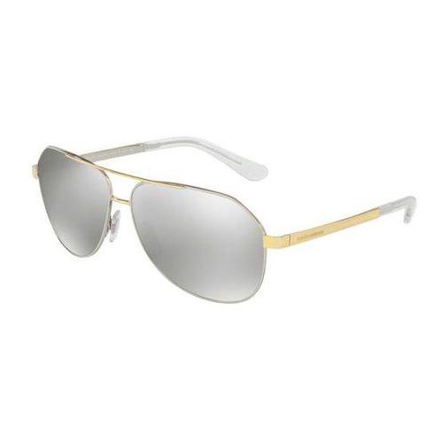 Okulary Słoneczne Dolce & Gabbana DG2144 Sicilian Taste 13076G, kolor żółty
