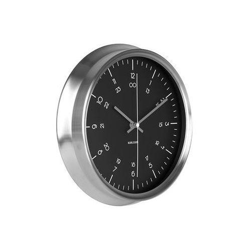Zegar ścienny Nautical stainless steel black by Karlsson, kolor czarny