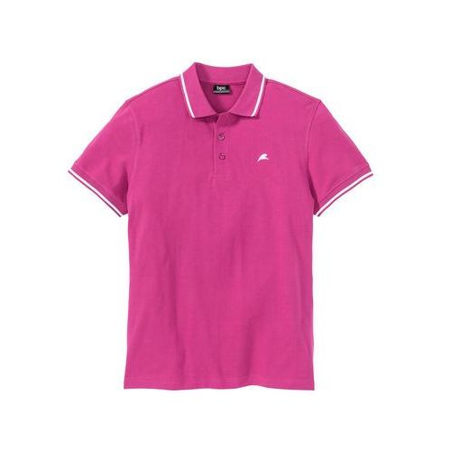 Shirt polo regular fit różowy marki Bonprix