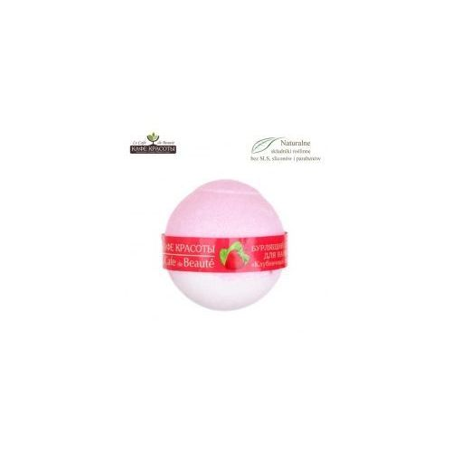 Le cafe de beaute  musująca kula do kąpieli - sorbet truskawkowy 120g