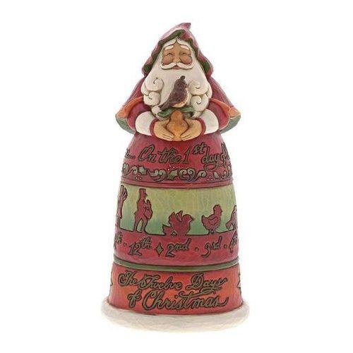 Mikołaj 12 dni Bożego Narodzenia - angielska kolęda Twelve Days of Christmas Santa 6001462 Jim Shore figurka ozdoba świąteczna
