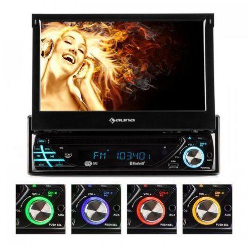 """mvd-220 radio samochodowe dvd cd mp3 usb sd aux 7"""" marki Auna"""