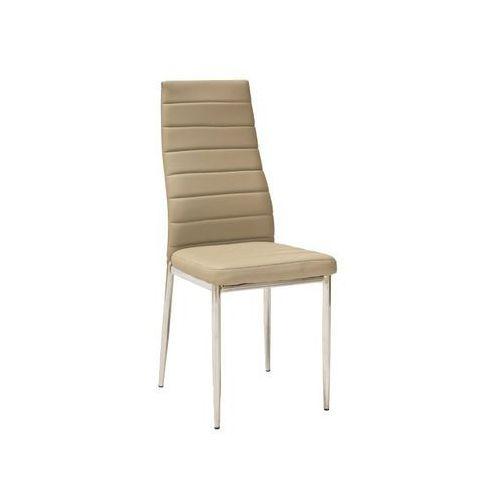 Krzesło H-261 Chrom Ciemny Beż, kolor beżowy