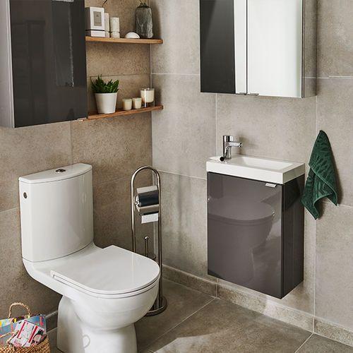 Szafka pod umywalkę imandra wisząca 44 cm antracyt marki Goodhome
