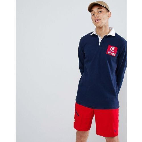 Polo Ralph Lauren CP-93 Capsule Back Applique Long Sleeve Rugby Polo in Navy - Navy, w 5 rozmiarach