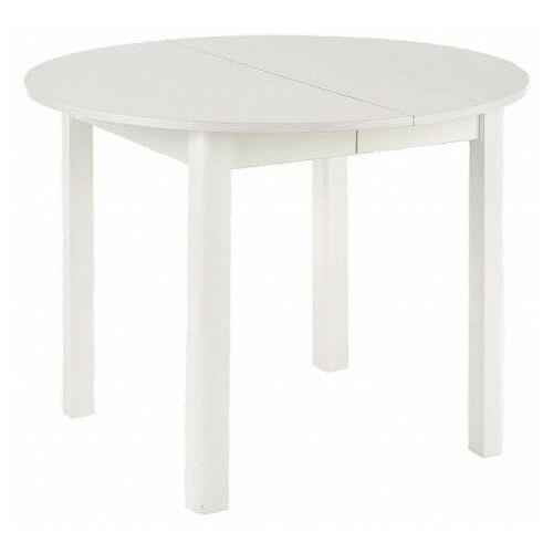 Okrągły biały stół rozkładany - ewilton marki Elior