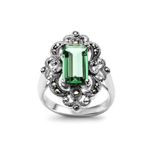 Srebrny pierścionek z markazytem marki Biżuteria yes