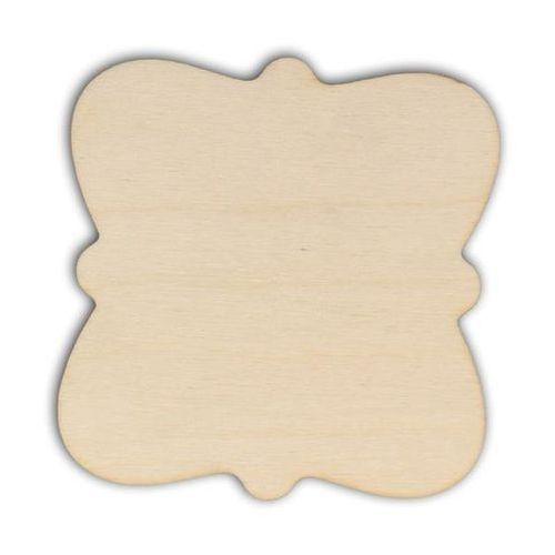 Eko deco Drewniana tabliczka do decoupage 10x10 cm - 02