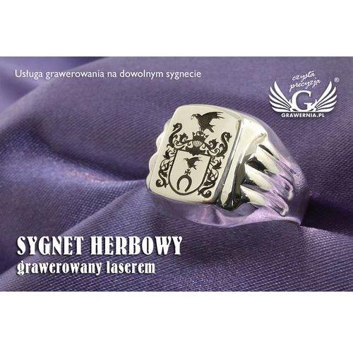 Usługa grawerowania herbu na sygnecie - sygnet herbowy - SY027