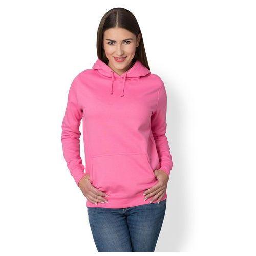 Damska bluza z kapturem (bez nadruku, gładka) - różowa, Megakoszulki, 34-44