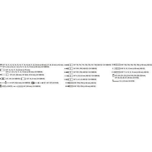 zestaw narzędzi - 108 el. (yt-3879) marki Yato