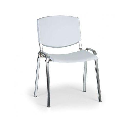 Krzesło konferencyjne Smile, szary - kolor konstrucji chrom