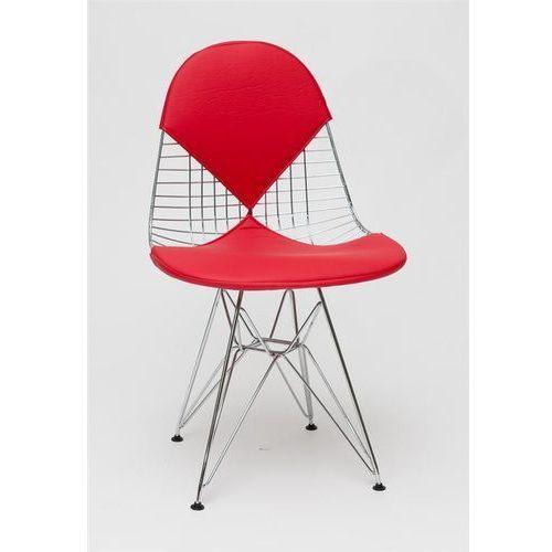 Krzesło Net double czerwona poduszka MODERN HOUSE bogata chata, kolor czerwony