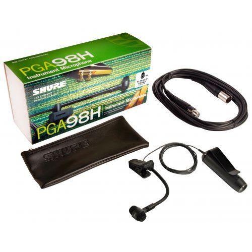 Shure PGA98H XLR mikrofon pojemnościowy z przedwzmacniaczem, instrumentalny