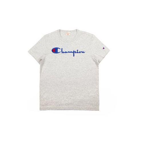 Koszulka męska Champion T-Shirt Siwy - Siwy, bawełna