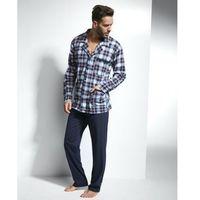 Cornette Mike 114/33 Granatowo-bordowa piżama męska, kolor niebieski
