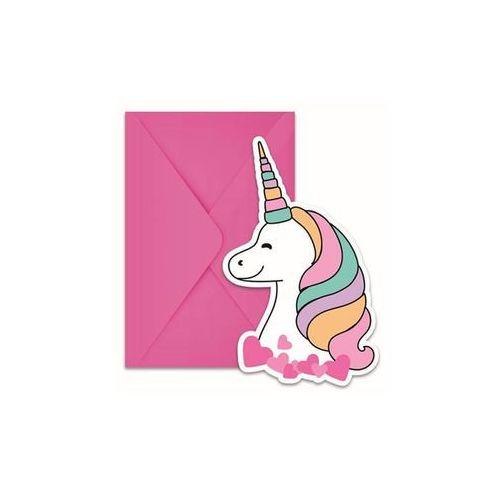 Procos non-disney Zaproszenia urodzinowe magiczny jednorożec - 6 szt. (5201184892909)