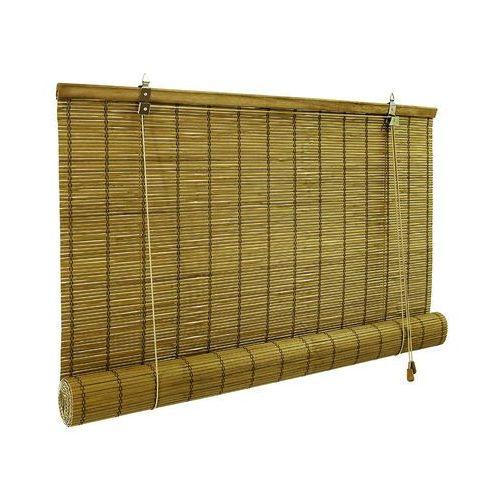 Roleta bambusowa, Gotowa, brązowa, 80x160 cm (4251043619667)