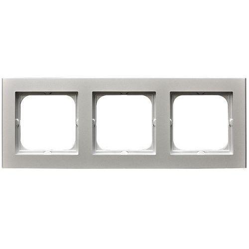 Sonata ramka potrójna srebro mat pozioma i pionowa r-3r/38 marki Ospel