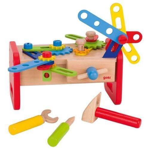 Goki Mój pierwszy drewniany warsztat do zabawy dla dzieci alex, narzędzia do zabaawy (4013594585019)