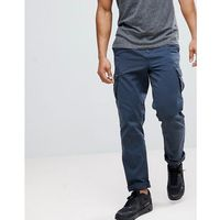 Solid Cargo Trouser With Belt - Navy, kolor szary