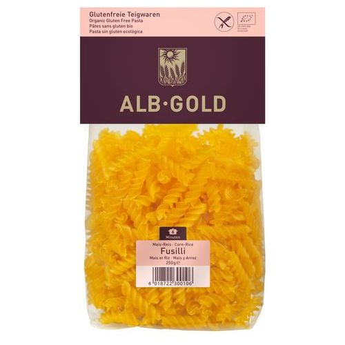 Alb gold Makaron kukurydziano-ryżowy fussili bio 250 - (4018722300106)