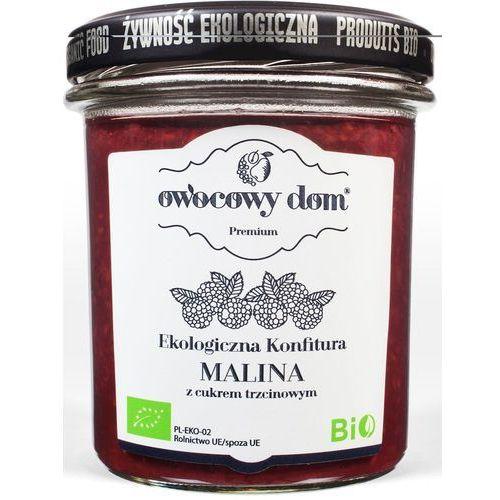 Ekologiczna Konfitura Malina z Cukrem Trzcinowym 300g