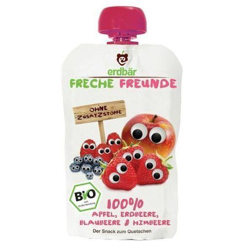 208erdbar Mus do wyciskania truskawka-jabłko-jagoda-malina 100g eko erdbar dla dzieci (4260249142329)