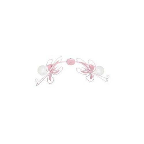 Luminex Plafon dziecięcy motyl 2xe27/60w różowa