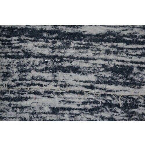 Chodnik bawełniany, ręcznie tkany, biało-szarozielony 80x150