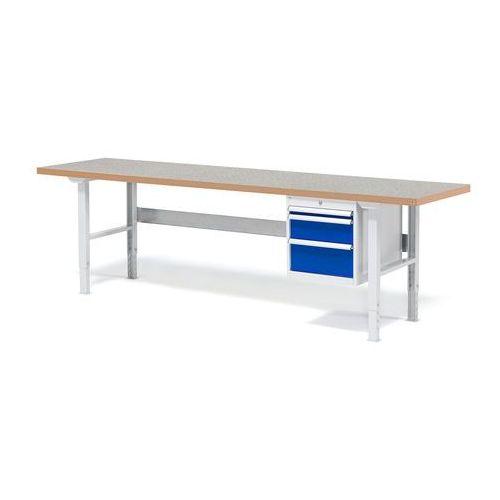 Stół warsztatowy solid, zestaw z 3 szufladami, 500 kg, 2500x800 mm, winyl marki Aj produkty