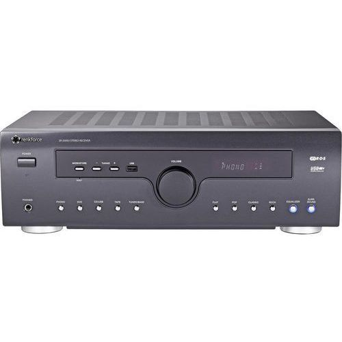 Odbiornik stereo, amplituner  sr-2000u 29265c4, cinch (stereo), usb, antena 75 om, czarny marki Renkforce