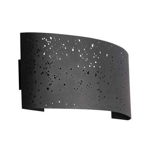 Kinkiet LAMPA ścienna MIGO 03286 Ideus minimalistyczna OPRAWA ażurowa LED 5W metalowa czarna