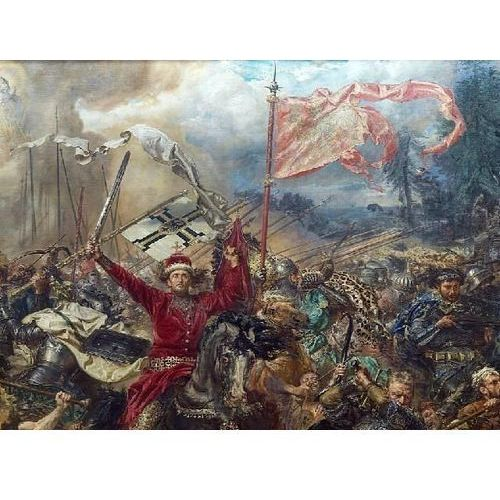 Reprodukcja bitwa pod grunwaldem (fragment. książę witold w czerwonym żupanie) jan matejko marki Deco-strefa – dekoracje w dobrym stylu