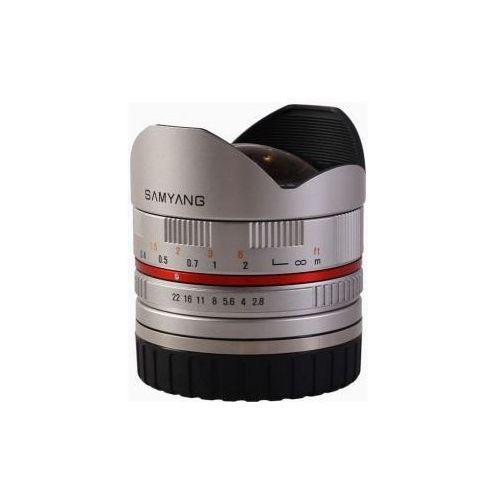 Samyang 8 mm f2.8 fish-eye srebrny obiektyw mocowanie fuji x (8809298882853)