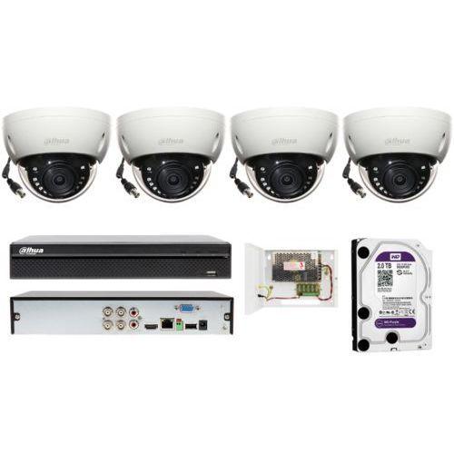Dahua Solidny zestaw do monitoringu na 4 kamery 3.7mpx z detekcją ruchu