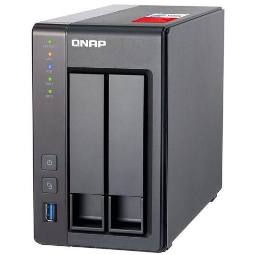 QNAP TS-251+-8G - Intel Celeron J1900 / 8 GB / HDMI / 2 x Gigabit LAN / 2-dyskowy