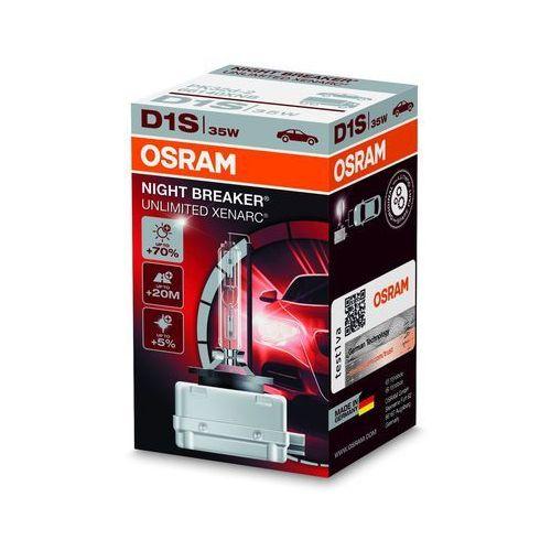 Osram Xenarc Original D1S HID Xenon nagrywarka, lampa wyładowcza, Night Breaker Unlimited, składane pudełko, biały (4052899047068)