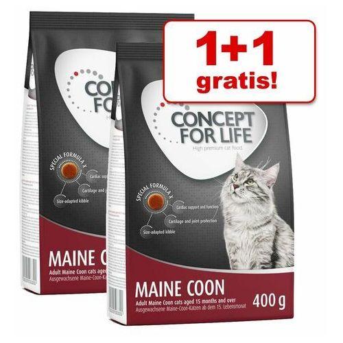 Concept for life 1 + 1 gratis! , 2 x 400 g - sensitive cats| darmowa dostawa od 89 zł + promocje od zooplus!| -5% rabat dla nowych klientów